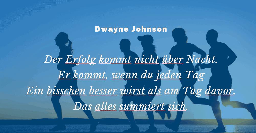 Dwayne Johnson Motivation Zitat 1
