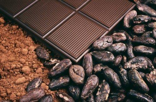 Kakao Pulver und Schokolade