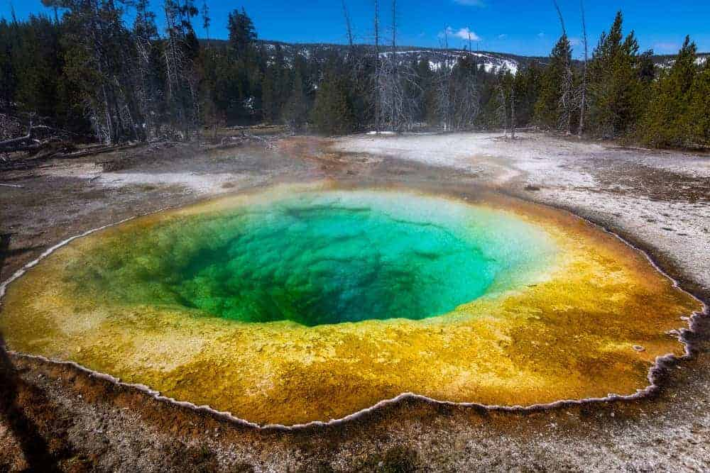 Schwefelquelle im Yellowstone Nationalpark
