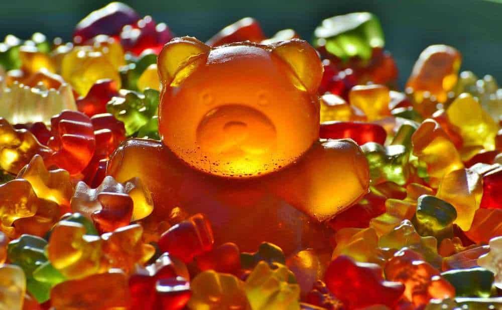 Gummibärchen in Nahaufnahme